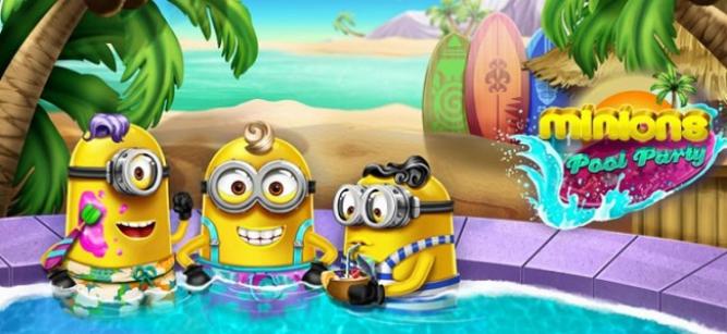 Ayuda a los Minions a montar una fiesta mítica en la piscina