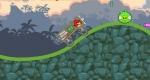 En Angry Birds Crazy Racing debes golpear los cerdos que se interpongan en tu camino