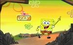Pantalla de título de Aventura Bob Esponja: pulsa Play y ¡a jugar!