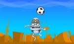 Demuestra tu habilidad moviéndote de lada a lado en Crazy Frog Fútbol sin dejar caer la pelota