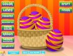 También puedes elegir un patrón con el que diseñar la decoración de tus huevos
