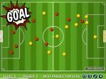 Como siempre el objetivo es marcar gol con el menor número de pases posible