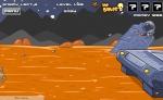 Salta sin parar procurando que las balas alcancen a los marcianos