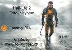 Pulsa Start para empezar la partida del shooter Half Life 2: Total Mayhem