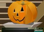 El salón está convenientemente decorado con motivos de Halloween