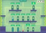 Supera los 7 niveles de este juego de plataformas representados por puertas temporales