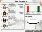 Selecciona tu equipo de empleados para conquistar diferentes cubículos