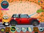 Limpia tu coche con agua a presión en Minion Car Wash