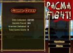 Si pierdes tus tres vidas te tocará comenzar de nuevo en Pacman Fight