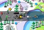 Accede a la tienda de Penguin Adventure 3 para comprar mejoras y bombas