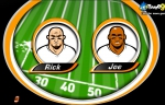 Escoge entre Rick y Joe para empezar a anotar touchdowns