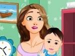 Limpiar la habitación del bebé de Rapunzel