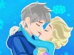 Elsa y Jack se besan