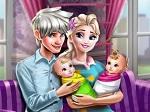 La Princesa Elsa y sus gemelos