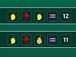 Jugar gratis a Ecuaciones con Fruta