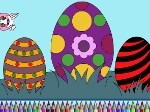 Colorea huevos de pascua