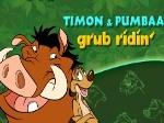 Timón y Pumba saltando