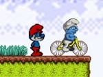 Jugar gratis a Pitufos en bicicleta
