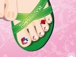 Pintar uñas de los pies