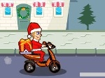Santa Claus en scooter
