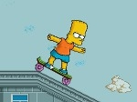 Jugar gratis a Bart en monopatín