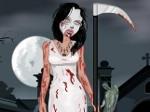 Vestir chica zombi