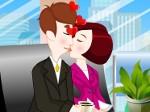 Besos en la oficina
