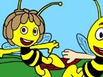 Jugar gratis a Colorea a la abeja Maya