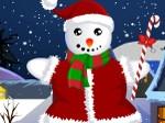 Vestir al muñeco de nieve navideño