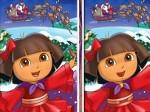 Jugar gratis a Christmas Dora: busca las diferencias