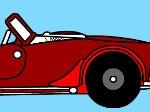 Colorea el coche deportivo