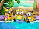 Los Minions en la piscina